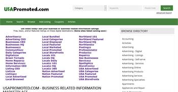 USAPromoted.com - National to Local business and information listings